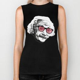Einstein in summer Biker Tank