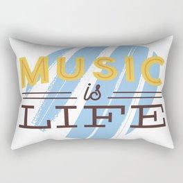 Music Is Life Rectangular Pillow
