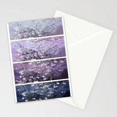 Vincent Van Gogh : Almond Blossoms Panel Art Dark Blue Purple Lavender Stationery Cards