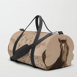 Wild_Horses Sepia 3501 - Nevada Duffle Bag