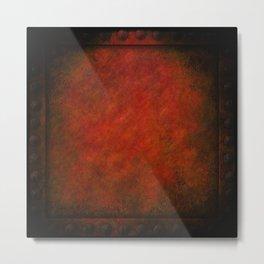 Grunge Red Panel Metal Print