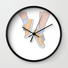 Orange Shoes Wall Clock