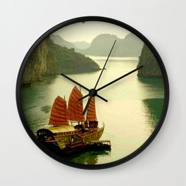 Vietnam Halong Bay Tourism Print Wall Clock