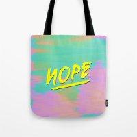 nope Tote Bags featuring Nope by Janja Primozic