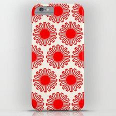vintage flowers red iPhone 6s Plus Slim Case
