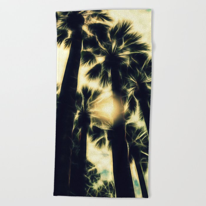 Palm Trees II Beach Towel