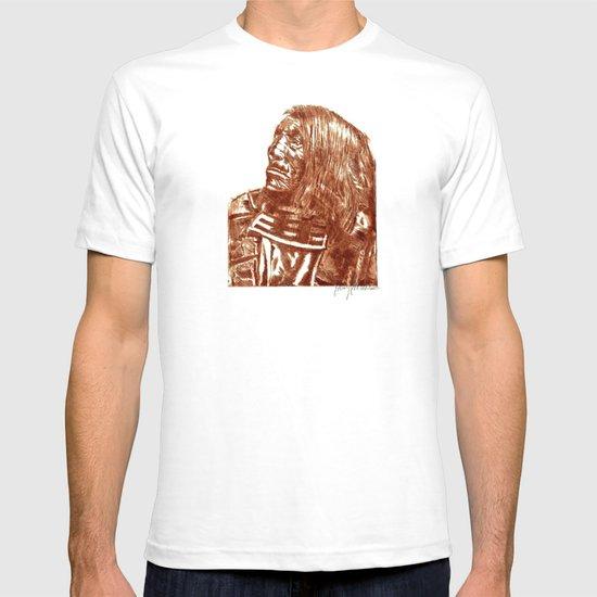Native Etch in warm brown T-shirt