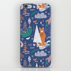 Bear camp iPhone & iPod Skin