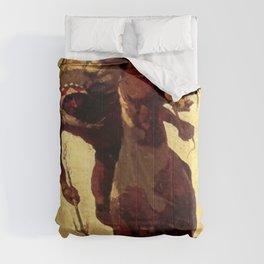 """N C Wyeth Vintage Western Painting """"Indian Lance"""" Comforters"""