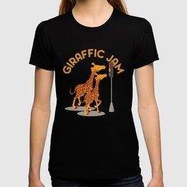 Giraffic Jam Traffic Pun T-shirt