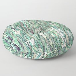 Abstract green Floor Pillow