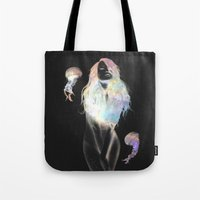medusa Tote Bags featuring Medusa by Daniel Taylor