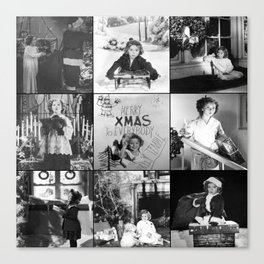 Shirley Temple Christmas Collage Canvas Print