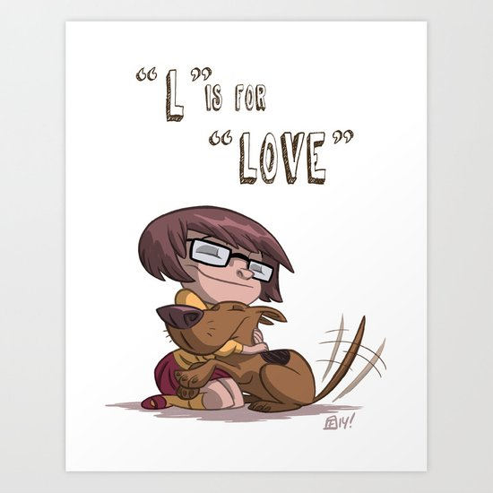 """""""L"""" Is For """"Love"""" Art Print"""