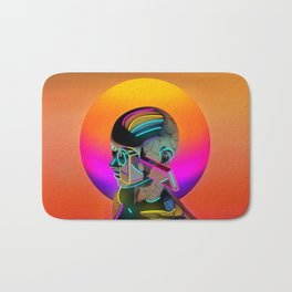 Android with a movie camera Bath Mat