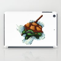 ninja turtle iPad Cases featuring Baby Ninja Turtle - PixelArt by Tokka Train