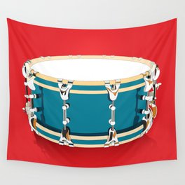 Drum - Red Wall Tapestry