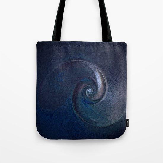 Sea Shell in Dark Blue Tote Bag