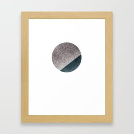 Spraypainted Circle 2 Framed Art Print