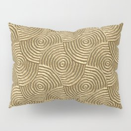 Golden glamour metal swirly surface Pillow Sham