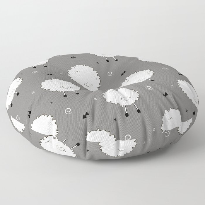 Funny sheep Floor Pillow