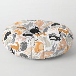 Cats Forever by Veronique de Jong Floor Pillow