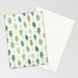 Run Forest Run Pattern Stationery Cards