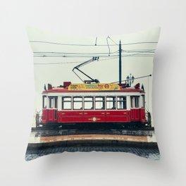 Tram number 6 Throw Pillow