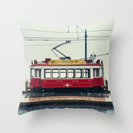 Tram number 6 | Electrico 6. Lisboa, Portugal Throw Pillow