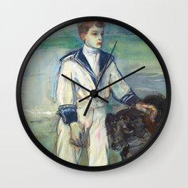 """Henri de Toulouse-Lautrec """"L'Enfant au chien, fils de Madame Marthe et la chienne Pamela-Taussat"""" Wall Clock"""