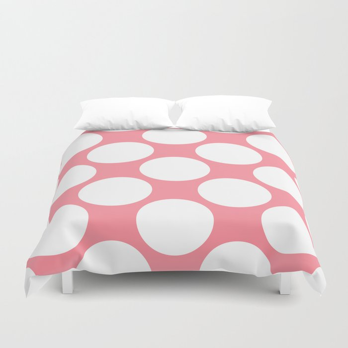 Polka Dots Pink Duvet Cover