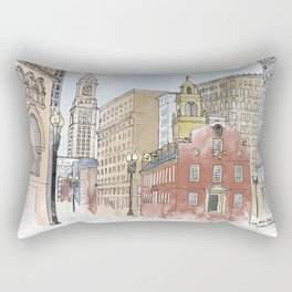 The Old State House Rectangular Pillow