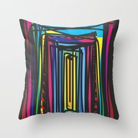 frames Throw Pillows featuring Frames by Niko Psitos