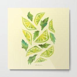 Key Lime Mojito Metal Print