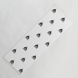 Arrows Collages Monochrome Pattern Yoga Mat