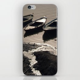 Boats in the Ganges iPhone Skin