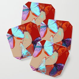 Butterflies in different colors Coaster