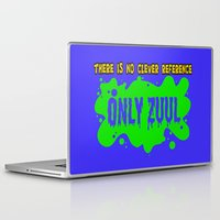 ghostbusters Laptop & iPad Skins featuring ONLY ZUUL  |  Ghostbusters by Silvio Ledbetter