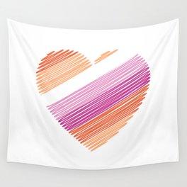 Lesbian heart flag Wall Tapestry