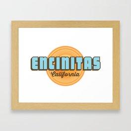 Encinitas - California. Framed Art Print