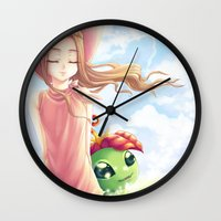 digimon Wall Clocks featuring Digimon Dream Mimi by dawnshue