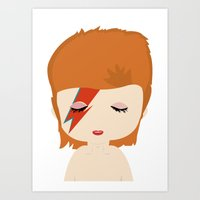 david bowie Art Prints featuring David Bowie by Creo tu mundo