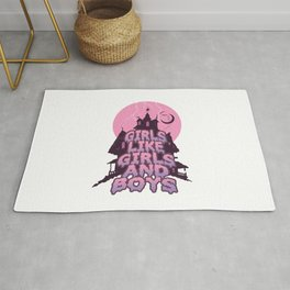 girls like girls and boys Rug