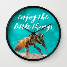 Enjoy the Little Things - Bee Wall Clock