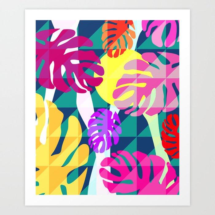 Tropical view II Art Print