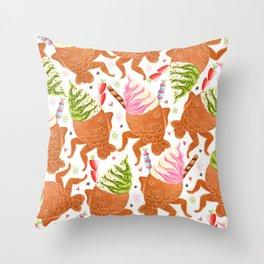 Taiyaki Mermaids Throw Pillow