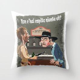 trinita' schiaffi Throw Pillow