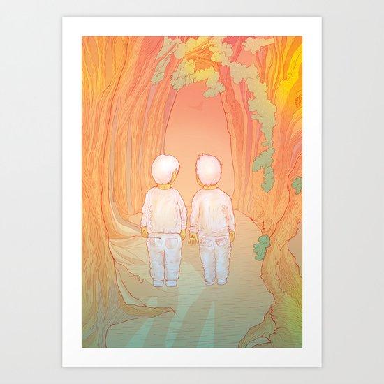 Hansel-&-Gretel Art Print