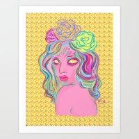 avatar Art Prints featuring Avatar by Hannah  Aryee