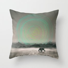 Spinning Out of Nothingness Throw Pillow